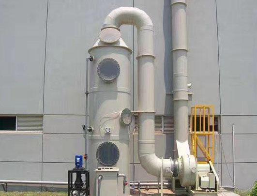 废气塔工程耐酸碱立式泵使用案例