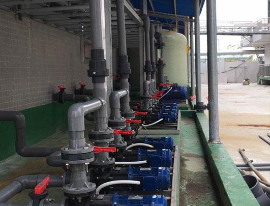 脱硫废气塔耐酸碱立式泵使用方案